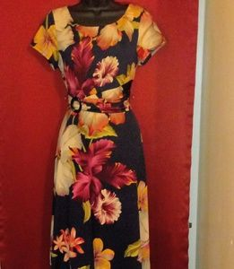 Perceptions flower midi dress